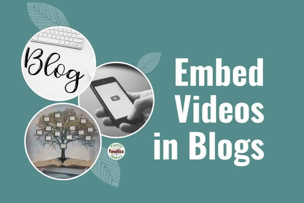 YouTube and Blog logo with title how to embed videos into blogs