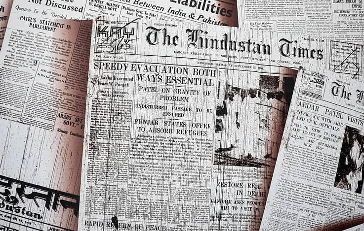 Newspapers with headlines for genealogy research