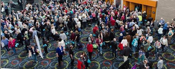 The crowds at RootsTech