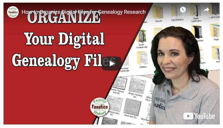 VIDEO: Organize your digital genealogy files