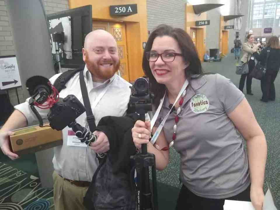Genavlogger Jarret Ross and Devon Noel Lee at Rootsech