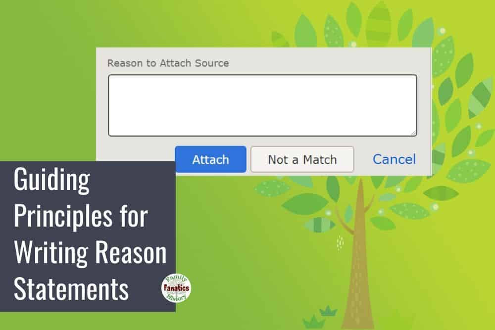 How to write reason statements on FamilySearch