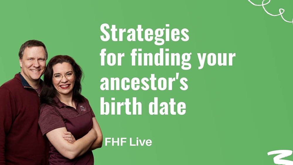 Having trouble finding your ancestor's birth date? Watch this video to learn what to do.