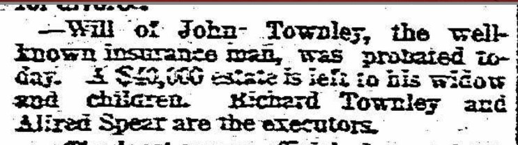 1890 Newspaper Probate Notice for Genealogy Research Brick Walls