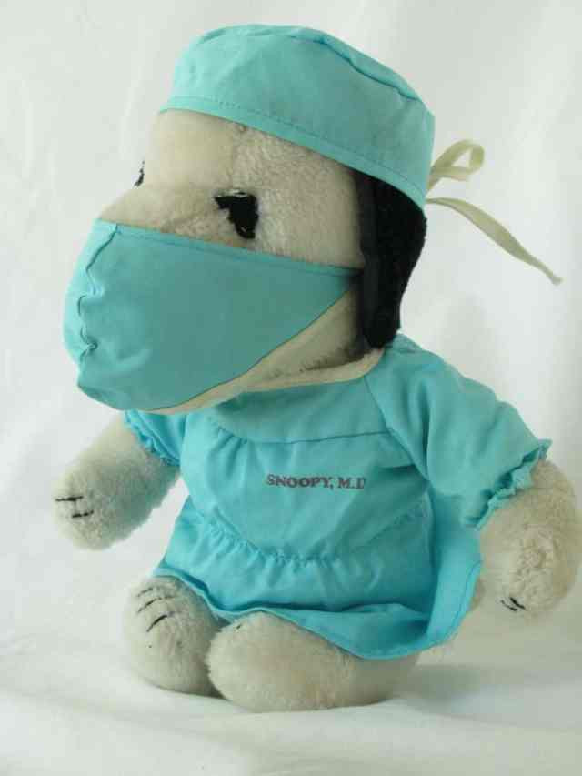 Photograph of Dr. Snoopy outfit from childhood.