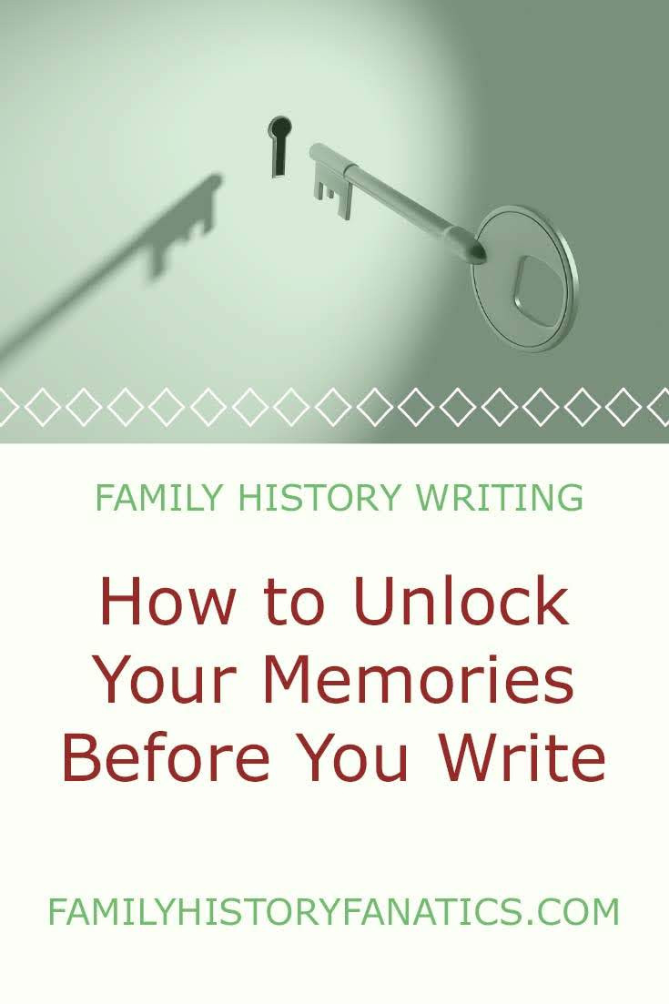 Key going into whole with title Use these to write the first draft of your own story. #memorytriggers #writing #memory #memoir #lifestory #writingtips #familyhistory #FHFanatics #FamilyHistoryFanatics #genealogy #FHFanatics #familyhistory #FHFanatics #FamilyHistoryFanaticsFanatics #legacy #ancestry