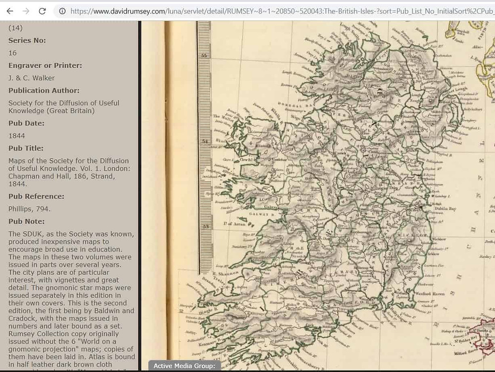 Historic Map of Ireland for Genealogy Research #genealogy historicmaps