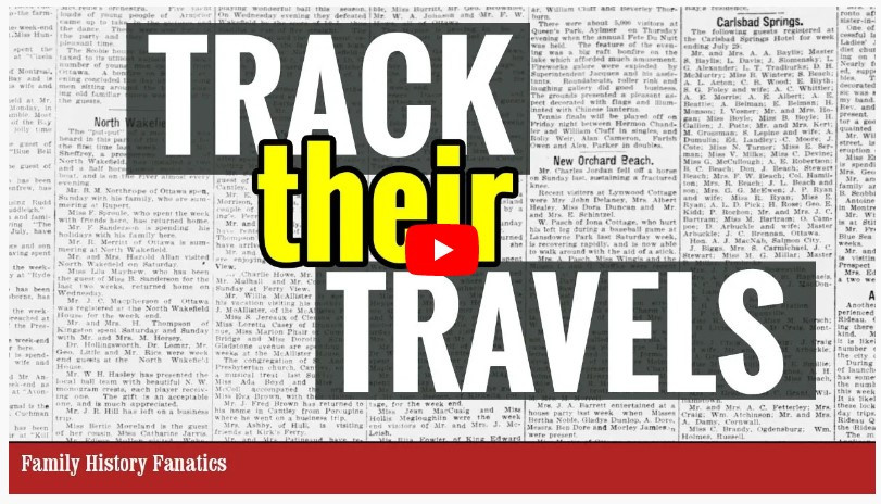 video Traveling Ancestors: Using Newspapers to Follow Your Relatives' Movements