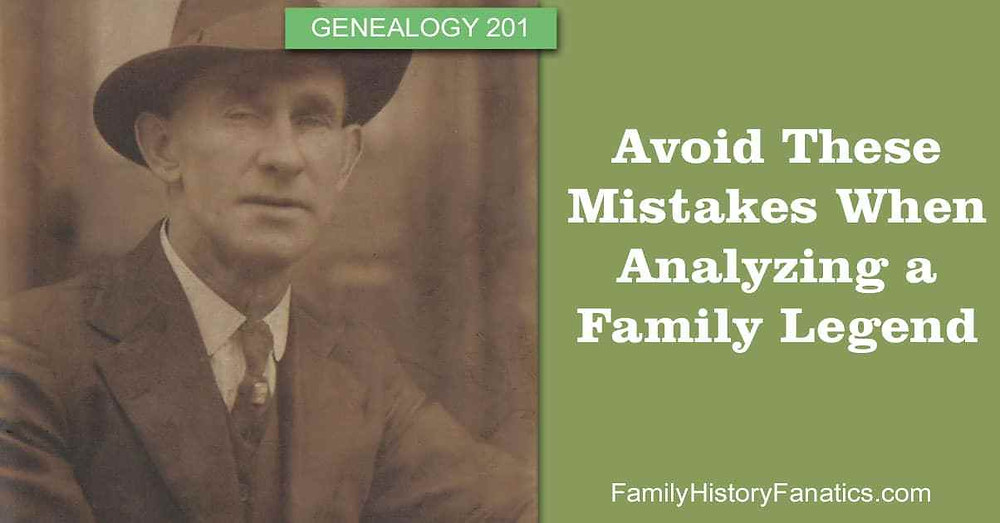 Vintage Gentleman with title Avoid These Mistakes When Analyzing a Family Legend