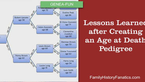 Lessons Learned from Creating an Age at Death Pedigree Chart