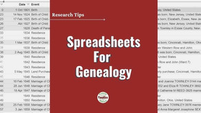 Using Spreadsheets for Genealogy Research