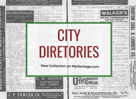 City Directories for Genealogy Research from MyHeritage