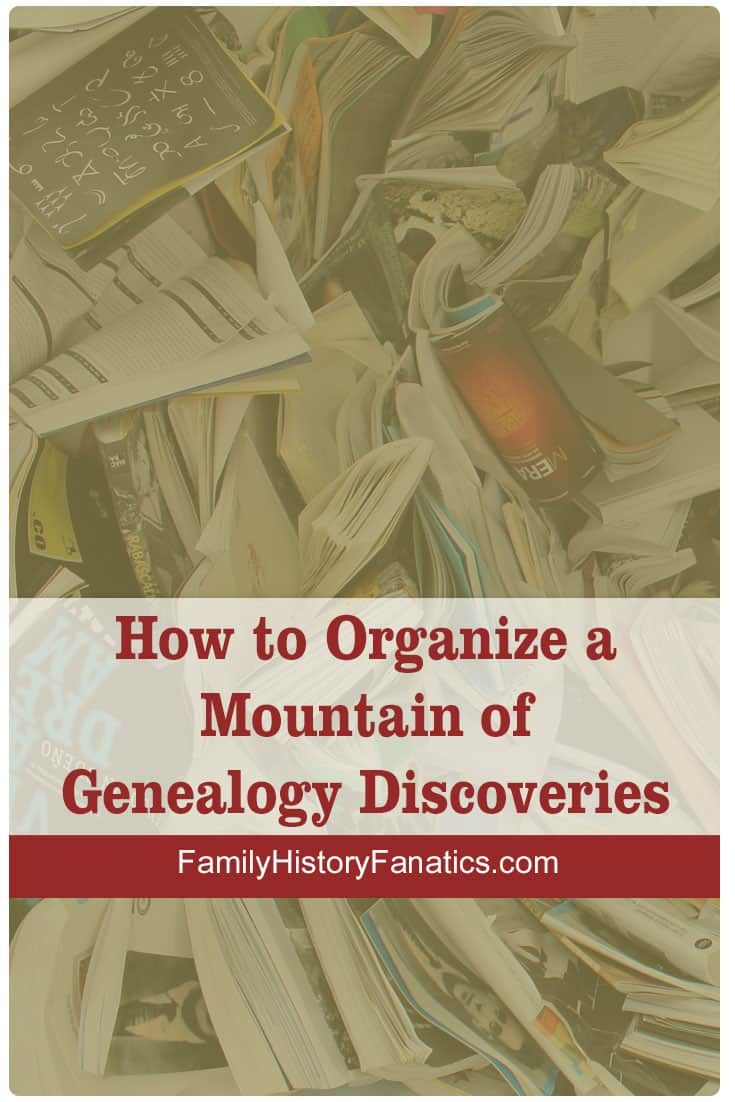 How to Organize a Mountain of Genealogy Discoveries #digitalfiles #organization #genealogy