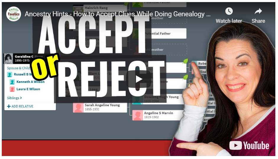 VIDEO: How to accept hints on Ancestry