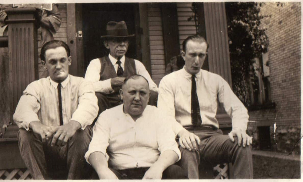Original photo of Earl Wiggins, Sam Barton, Lawrence Geren, George Geiszler
