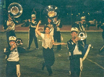 Blinn College band, me in the middle!