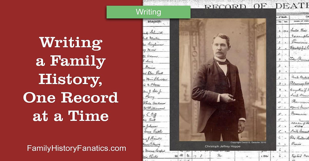 easily write a family history by using one record at a time