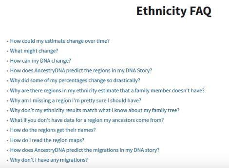 AncestryDNA FAQs