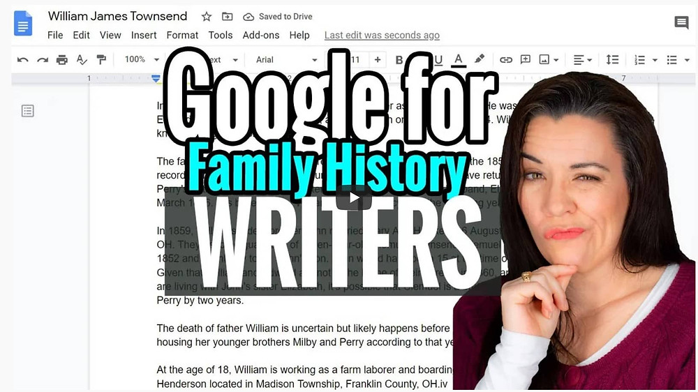 VIDEO: Google Docs for Family History Writers
