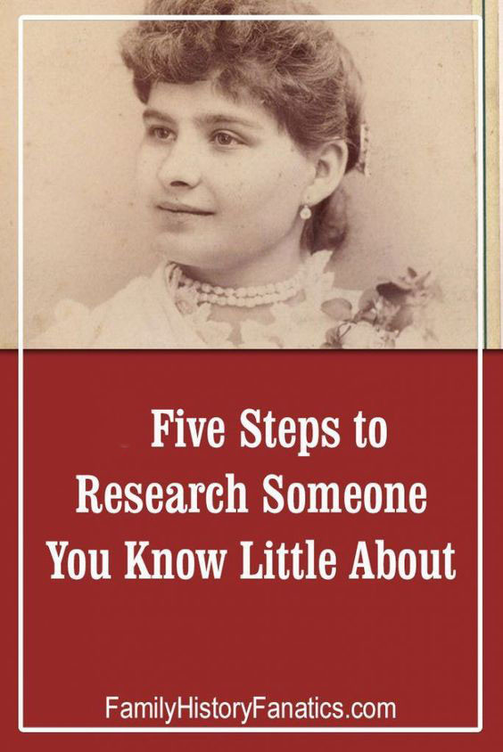vintage photo of woman with prompt 5 step genealogy research plan for when you know little about an ancestor