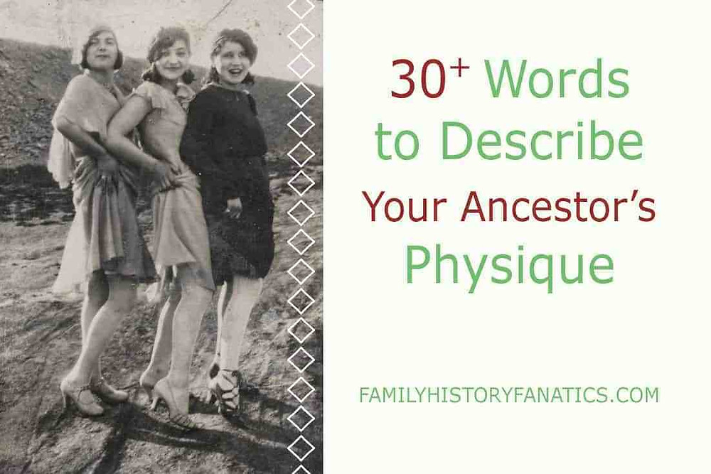 Vintage photo of women for how to write family history descriptions of body types