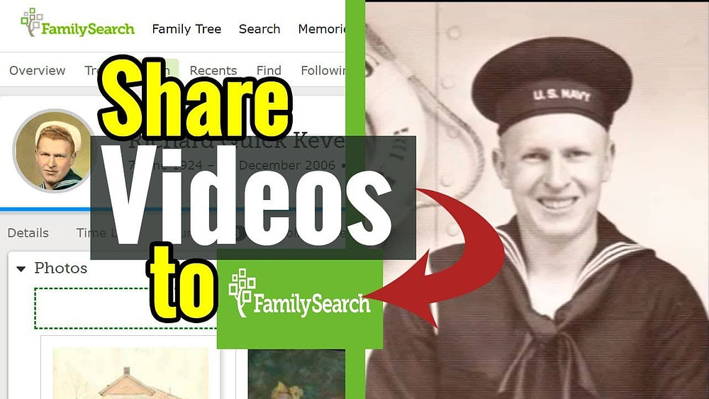 VIDEO: How to share family history videos on the FamilySearch Family Tree