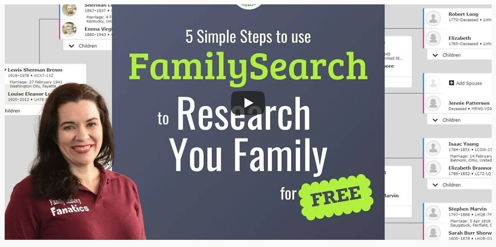 Video: FamilySearch.org: 5 Steps Method for Doing Free Genealogy Research
