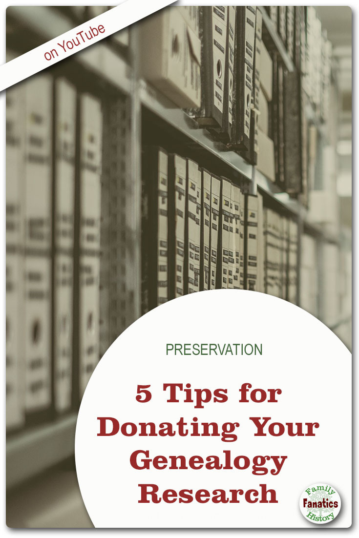 Can you donate your genealogy research to an archive or library? Amy Johnson Crow says yes! #genealogy #preservation #archives