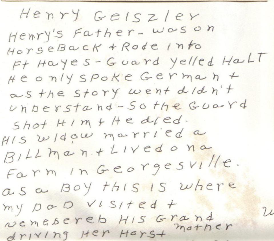 Joseph Geisler of Columbus, Ohio's death story.