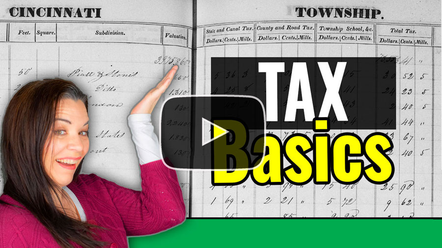 VIDEO: Genealogy Research in Tax Records