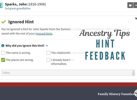Ancestry Hint Feedback - Should You Use This Time-Consuming Feature?