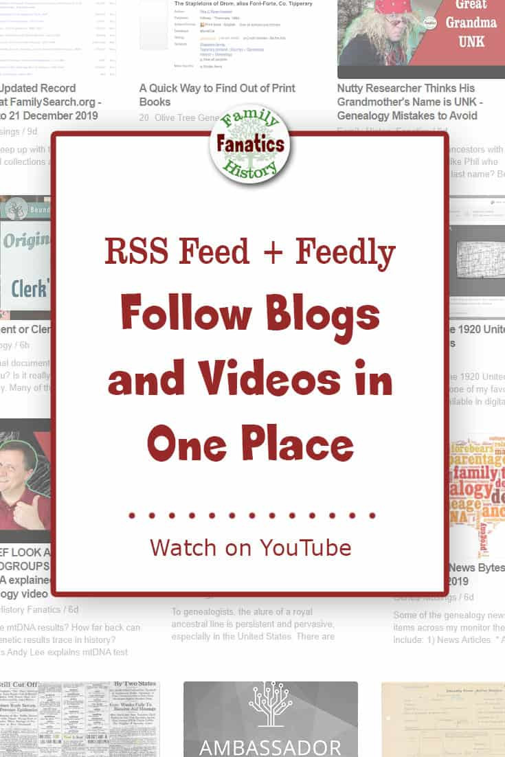 Learn how to follows blogs and videos in one place using the RSS Feed and Feedly