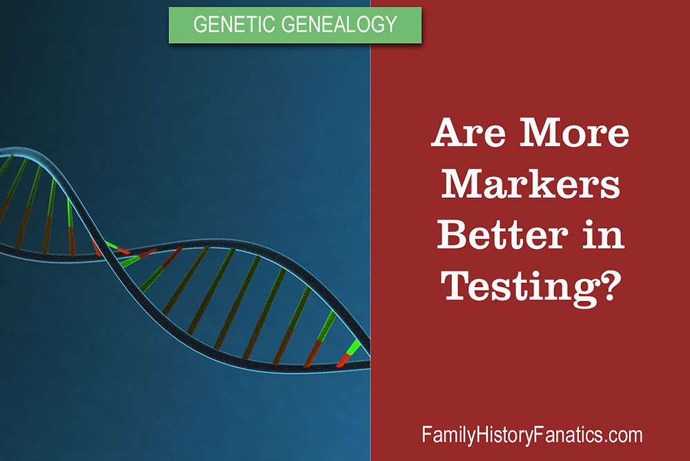 DNA Strand with title genetic genealogy are more markes better in testing?