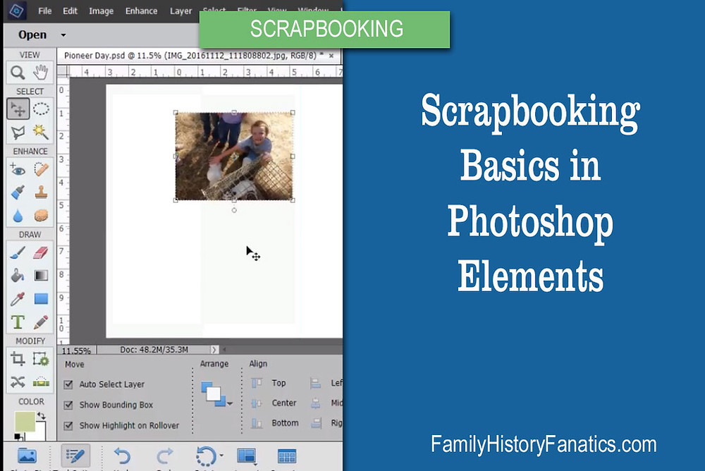 Photoshop Elements Basics for Scrapbooking