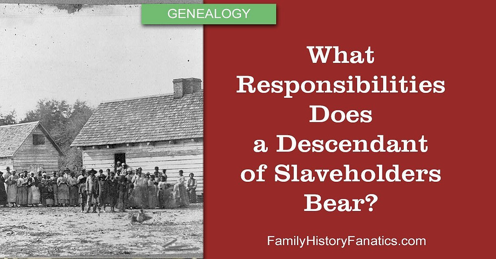 Group of slaves with the question what responsibilities does a descent of slaveholders bear?