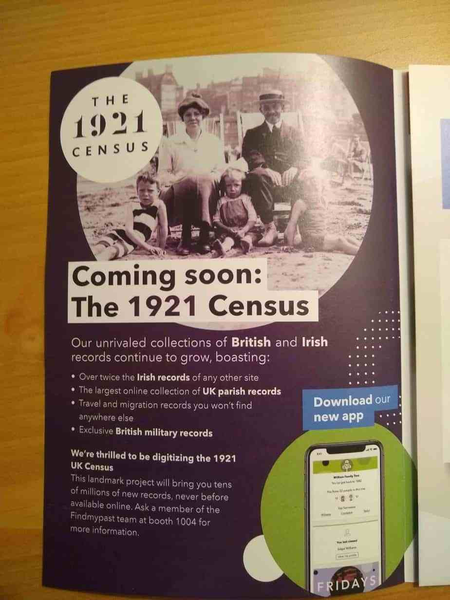 Finmypast 1921 Census promotion