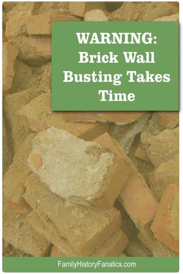 collection of broken bricks and title Brick Ball Busting is not for beginners