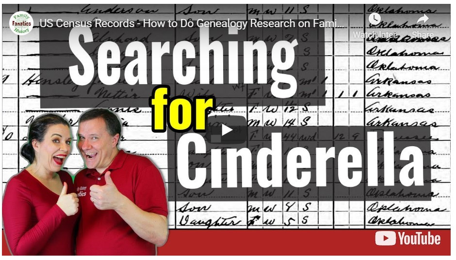 video: Searching for Cinderella in US Census records on FamilySearch