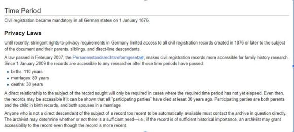 Snapshot of German FamilySearch Wiki Page