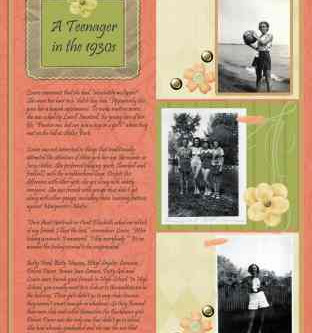 Peach and Green Heritage Scrapbook Page Collection