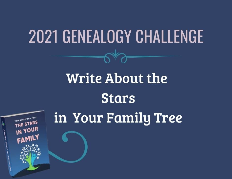 SCGS The Stars in Your Family Tree Family History Writing Challenge