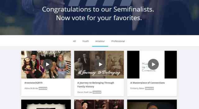 RootsTech Semifinalists