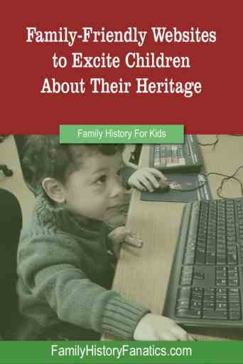 Child at computer title how to ecite children about family history