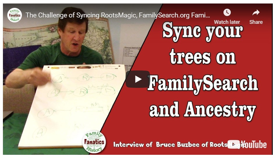 VIDEO: The challenging of syncing FamilySearch and Ancestry family trees