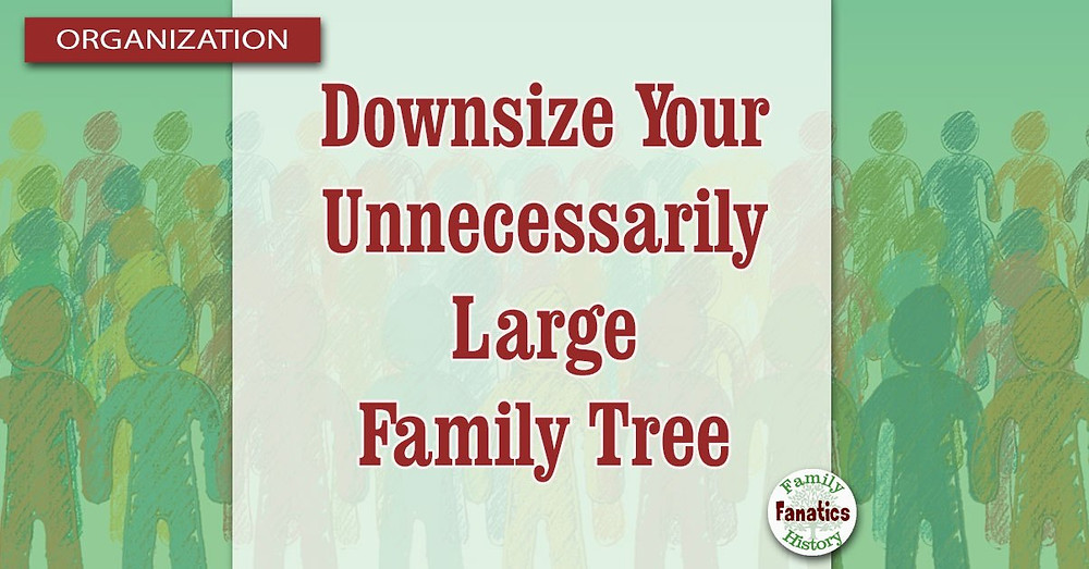 Large family with downsize your unnecessarily large family tree