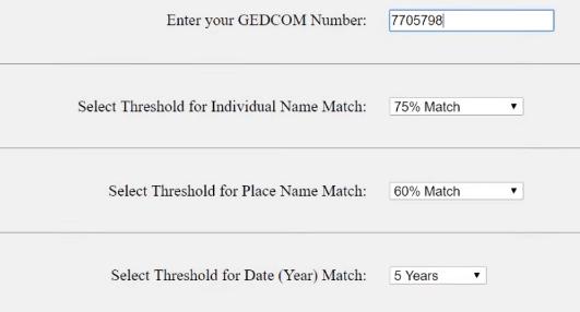 One GEDCOM to all tool on GEDmatch