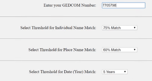 1 GEDCOM to all tool on GEDmatch