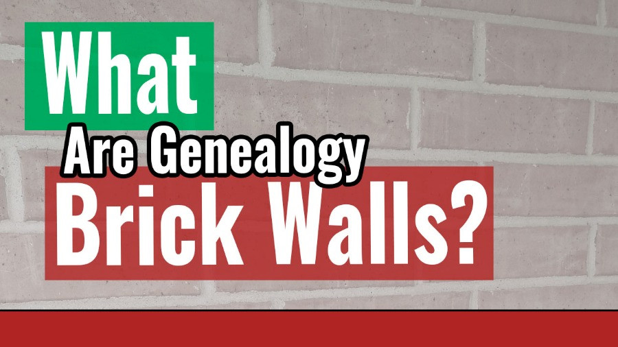 Faded brick wall with title What are genealogy brick walls?