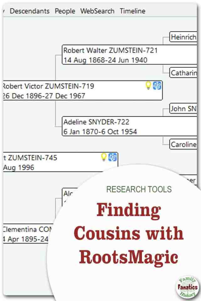 Genealogy software programs may help you find more cousins, or hints for more cousins. #genealogy #RootsMagic #organization