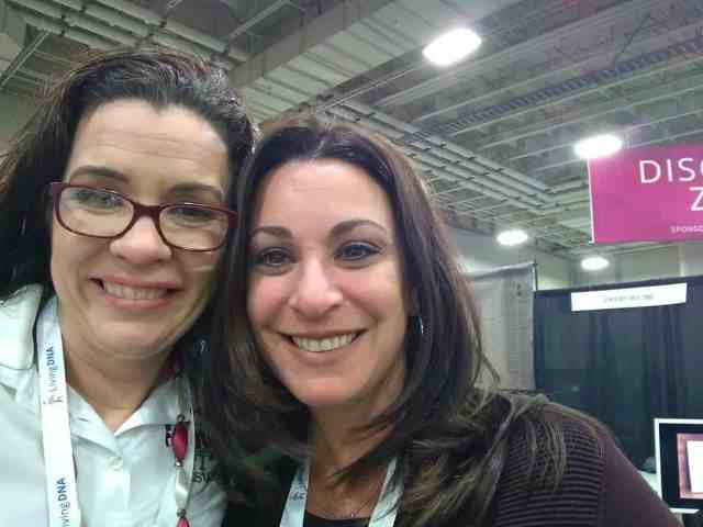 Sharing Moments at RootsTech with fellow vendors